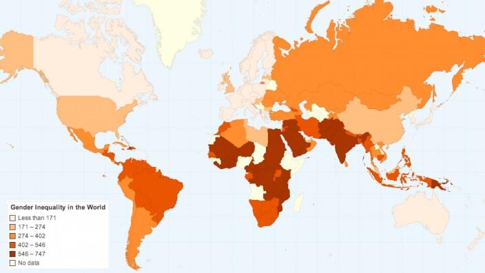 Карта гендерного неравенства