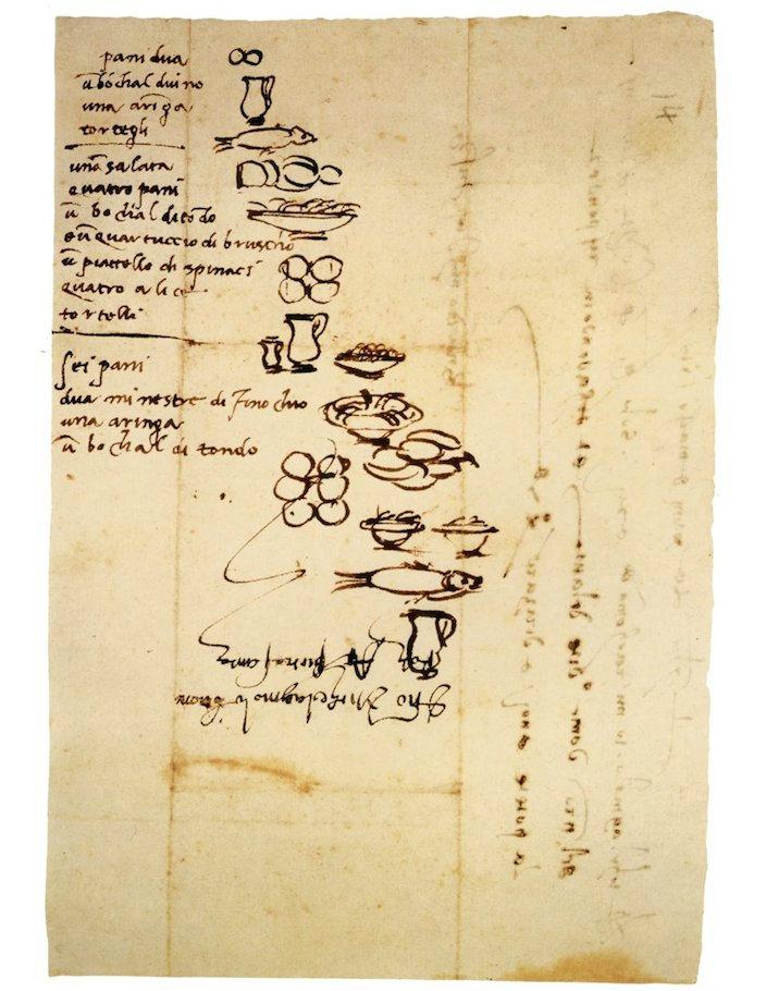 Список покупок Микеланджело
