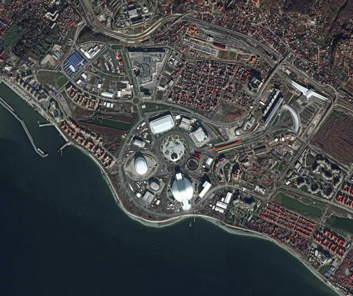 Вид на Сочи из космоса