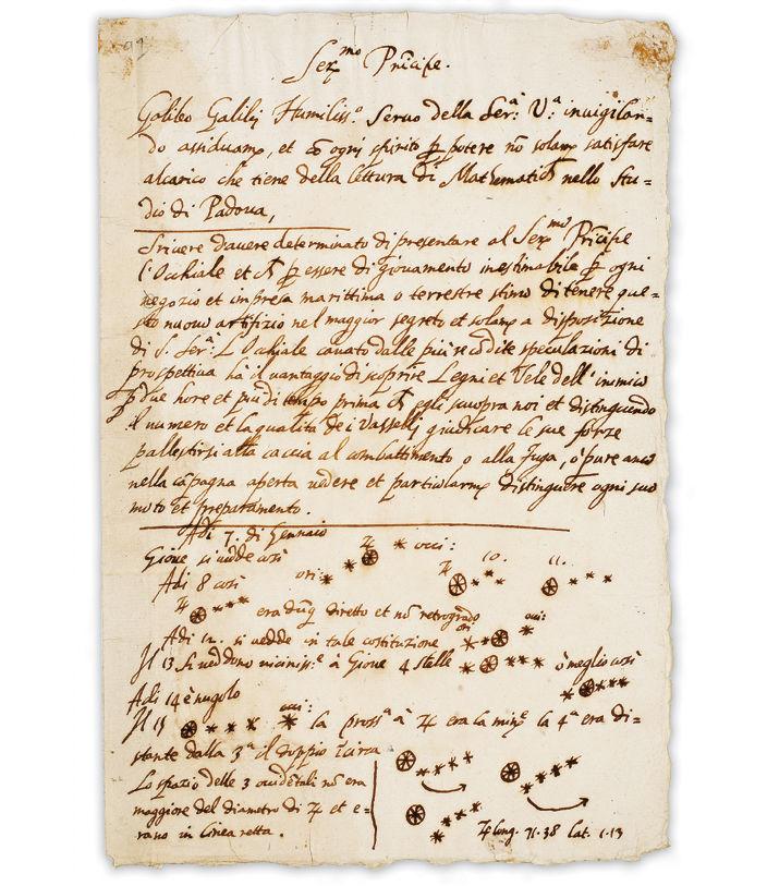 Рукопись Галилео Галилея