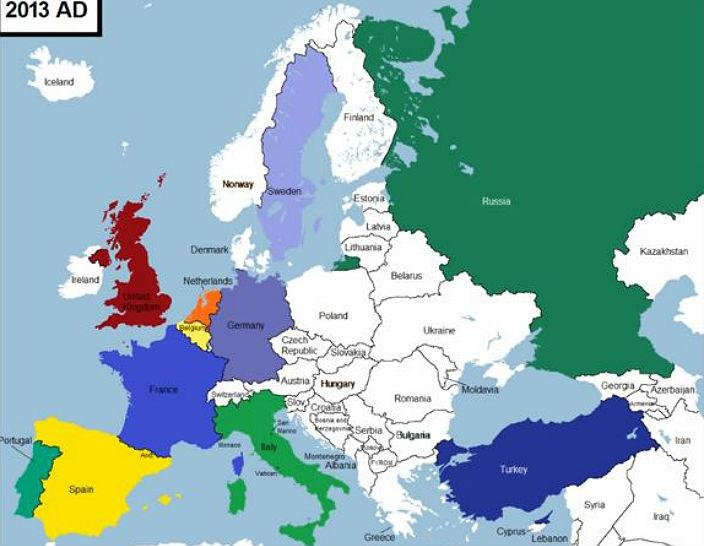 6013 лет истории Европы за 3 минуты