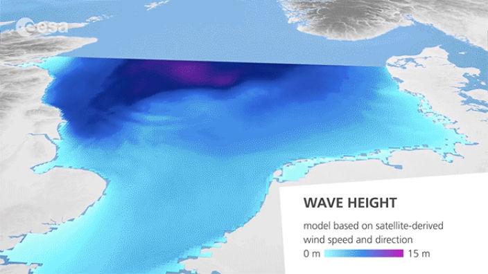 Космический мониторинг морских волн