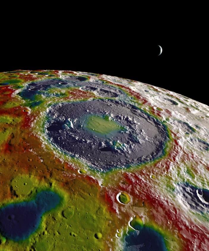 Психоделическая карта гравитационного поля Луны