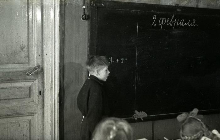 Урок в советской школе