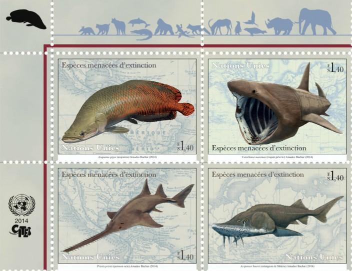 Краснокнижные животные на почтовых марках