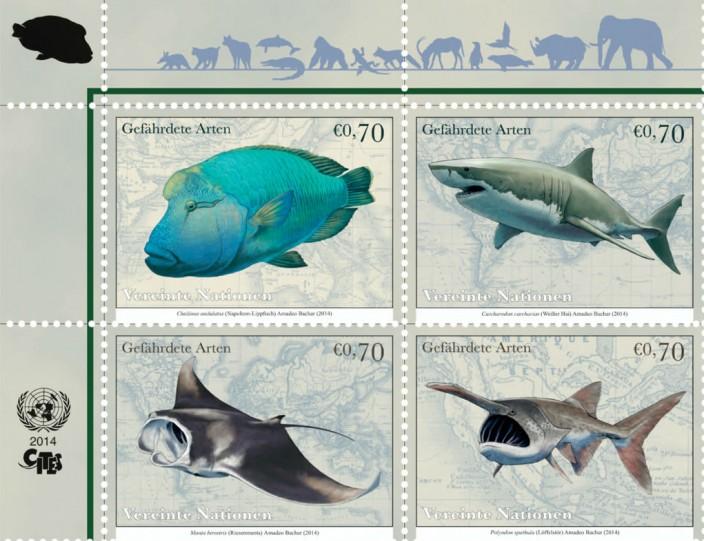 Вымирающие виды на почтовых марках ООН