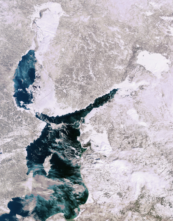 Балтийское море зимой